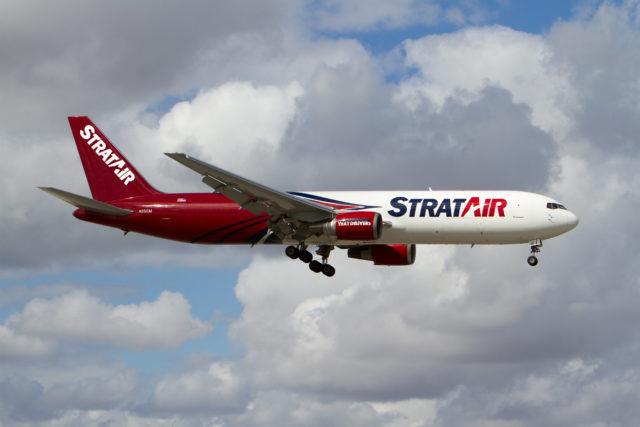 StratAir B767 Flying in Sky